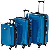 Samsonite Winfield 3 DLX Hardside Luggage, Blue/Navy, Checked-Medium