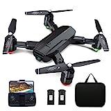 Dragon Touch GPS Drohne mit Kamera 1080P HD, haltbar RC Quadrocopter mit WiFi FPV Live Übertragung/Tap Fly/Follow Me/Höhenhaltung/3 Geschwindigkeiten/Headless Modus für Anfänger mit Tragetasche DF01G