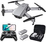 Tomzon D25 4K Drohne mit Kamera Faltbare FPV-Drohne für Erwachsene, Lichtpositionierung, Handgestenfotografie, Bahnflug, 3D-Flips, Fotofilter, Kopfloser Modus, geteilter Bildschirm, 2 Akkus