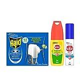 Autan und Raid Kombi-Pack, ideal zum Schutz gegen Mücken auf Reisen, 3er Pack (1x 100ml, 1x 25ml, 1x 27ml)