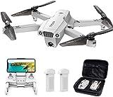 Tomzon D65 GPS Drohne mit 4K UHD Kamera, Faltbarer FPV RC Quadcopter mit automatischer Rückkehr nach Hause, Follow Me, Tap Fly, Circle Fly, MV-Modus, 2 Batterien für 40 Minuten und Tragetasche