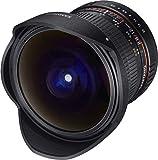 Samyang 12/2,8 Objektiv Fisheye DSLR Canon EF manueller Fokus Fotoobjektiv, Superweitwinkel schwarz