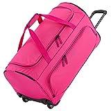 Gepäck Serie BASICS FRESH: Weichgepäck Reisetasche mit Rollen von travelite im sportlichen Design, 2-Rad Trolley Reisetasche Größe L, 096277-17, 71 cm, 89 Liter, Pink