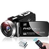 Videokamera Camcorder Full HD 1080P 30 FPS IR Nachtsicht Camcorder 24MP 3,0 Zoll IPS-Bildschirm 16-facher Digitalzoom Digitalkamera mit Fernbedienung