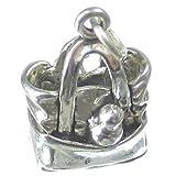Baby Windel Taschen Sterlingsilber Charm .925 x 1 verpackt mit Essentials sslp3073