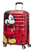 American Tourister Wavebreaker Disney - Spinner M Koffer, 67 cm, 64 L, Rot (Mickey Comics Red)