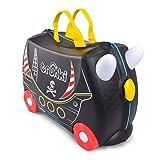 Trunki Trolley Kinderkoffer, Handgepäck für Kinder: Pedro Piratenschiff (Schwarz)