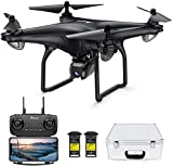 Potensic D58 Drohne mit 1080P Kamera für Erwachsene, 5G WiFi HD Live Video, GPS Auto Return, RC Quadcopter für Erwachsene, tragbares Gehäuse, 2 Akkus, Follow Me, Easy Selfie Anfänger und Experten