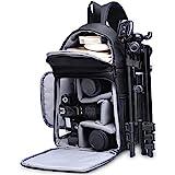 Kameratasche, CADeN Kamera Umhängetasche Sling Brusttasche Bag Wasserabweisend Kompatibel mit Canon Nikon Sony Pentax DSLR/SLR und Spiegelreflexkameras Stativ (Schwarz)