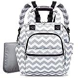 Zoylink Baby Pflegetasche Windel Rucksack spritzwassergeschützt Große Kapazität Windel Tasche für Mama