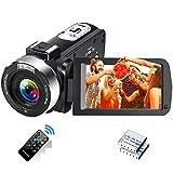 Videokamera 1080P 30FPS Camcorder Full HD IR Nachtsicht Tragbare Vlogging-Kamera 3-Zoll-LCD-Bildschirm Videokamera mit Bewegungserkennung und Fernbedienung