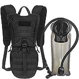 Unigear Trinkrucksack mit 2.5L Trinkblase und 1050D Wärmeisolierfach, taktischer Hydration Rucksack, Fahrradrucksack, Hydrationspack, für Klettern Trekking Radfahren Bergsteigen Outdoor Sports