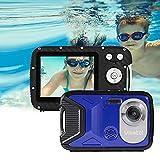 GDC8026 wasserdichte Digitalkamera / 8X Digitalzoom / 16 MP / 1080P FHD / 2,8' TFT-LCD-Bildschirm/Unterwasserkamera für Kinder/Jugendliche/Studenten/Anfänger/ältere Menschen (Blau)