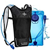 Trinkrucksack Hydrationspack mit 2L Trinkblase Fahrradrucksack für Joggen, Wandern, Radfahren, Camping und Bergsteig MEHRWEG