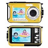 Unterwasserkamera Kamera Wasserdicht mit Dual Screen 2.7K 48MP Unterwasserkamera Digital Wasserdicht zum Schnorcheln Selfie-Kamera