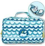 EDWEKIN 2in1 Windeltasche und Kulturbeutel Kinder, mitwachsende Wickeltasche, Windeltasche für unterwegs - wasserdicht, Baby Erstausstattung , Kosmetiktasche, Reisetasche Kinder