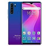 Blackview A80 Pro (2020) Smartphone, 6,49 Zoll Dot Drop Anzeige, 4GB RAM+64GB ROM, 4680mAh Akku, 13MP+8MP Kamera, Android 9.0, WLAN 5G, Fingerabdruck, Face ID, 4G Dual SIM Handy Ohne Vertrag-Mist Blau