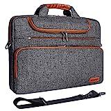 DOMISO 15-15,6 Zoll Wasserdicht Laptop Tasche Aktentasche Schultertasche Notebooktasche für 15.6' Lenovo IdeaPad ThinkPad/HP Pavilion 15 Envy 15 / Dell XPS 15 / Apple/Asus, Dunkelgrau